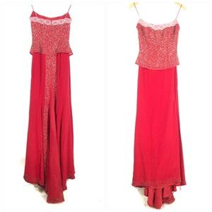 Claire's Collection Red Prom Dress Rhinestones